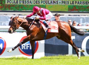 Dimanche 10 Mai 2015;Longchamp;POULE D'ESSAI DES POULAINS - PRIX LE PARISIEN - QUINTE + - G1;Olivier PESLIER;Prince Abdulrahman AL FAISAL ;A. FABRE (S);SCOOPDYGA - VALLE Morgane